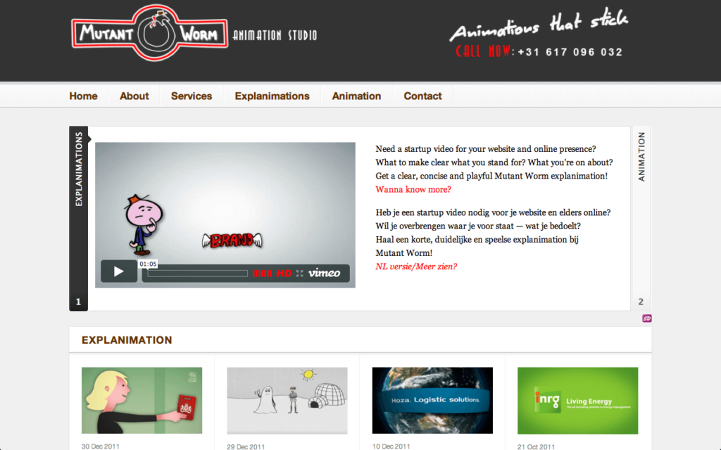 Mutant Worm website online 13 feb 2012